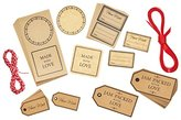 Kitchen Craft Home Made Gift Tags and Labels Set (122 Pieces)