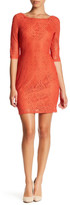 Laundry by Shelli Segal V-Back Stretch Lace Dress (Petite)