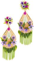 Mercedes Salazar Artes Fiesta Flor Morado Clip On Earrings