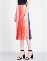 Maje Jupiter panelled lace skirt