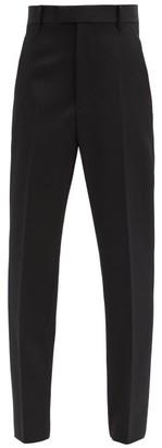 Bottega Veneta Tapered Wool Tailored Trousers - Black