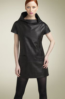 MARC BY MARC JACOBS Leather Funnel Neck Minidress