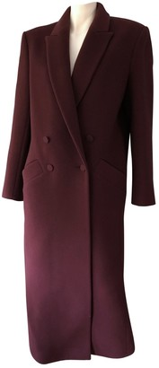 Pallas Burgundy Cashmere Coat for Women