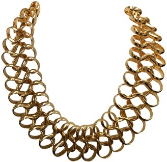 Kenneth Jay Lane 14kt Gold Gold Open Chain Necklace-16-24 Inhes-Statement Piece!
