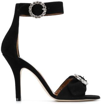 Paris Texas Crystal Embellished Sandals