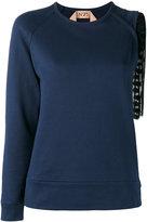 No.21 asymmetric knitted top - women - Cotton - 40