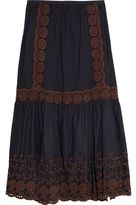 See by Chloe Broderie Anglaise Cotton Maxi Skirt