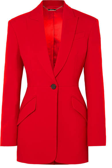 Alexander McQueen Wool-blend Blazer - Red
