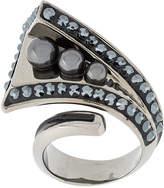 Swarovski Triple Pearl Hematite ring