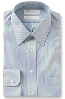 Roundtree & Yorke Gold Label Striped Non-Iron Fitted Classic Point Collar Dress Shirt