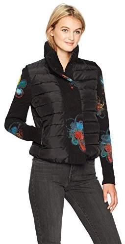 Desigual Women's Bernard Woman Woven Padded Short Overcoat
