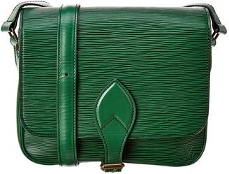 Louis Vuitton Green Epi Leather Cartouchiere Mm