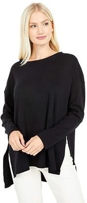 Pact Organic Cotton Side Slit Tunic (Black) Women's Clothing