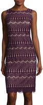 Ronni Nicole Sleeveless Horizontal-Lace Shift Dress