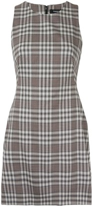 Theory Plaid-Print Sleeveless Dress
