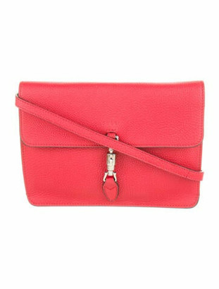 Gucci Soft Jackie Convertible Clutch Red