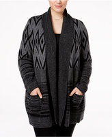 Style&Co. Style & Co. Plus Size Patterned Cardigan, Only at Macy's