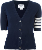 Thom Browne shortsleeved cardigan - women - Cashmere - 40