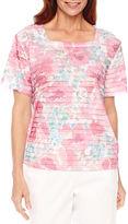 Alfred Dunner Classics Short Sleeve Crew Neck T-Shirt