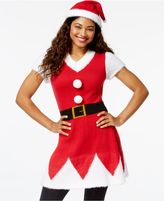 Planet Gold Juniors' Santa Fit and Flare Sweater Dress
