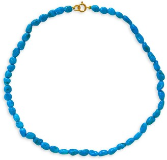 Luxeworks New York Sleeping Beauty 14K Gold & Turquoise Necklace