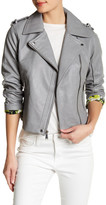 BCBGeneration Asymmetrical Front Zip Faux Leather Moto Jacket