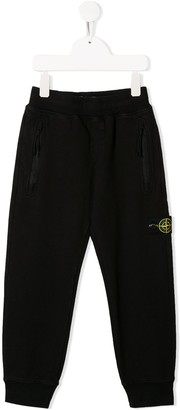 Stone Island Junior logo patch track trousers