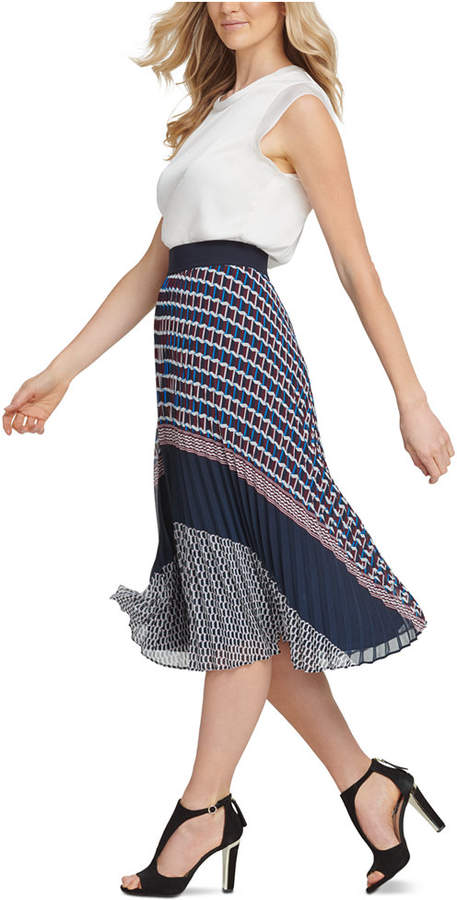 large discount price reduced top-rated real Pull-On Pleated Midi Skirt