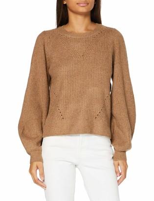 Noisy May Women's NMLUKE L/S O-Neck Knit S Sweater