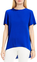 Vince Camuto High/Low Blouse (Petite)