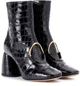 Ellery El embossed leather ankle boots