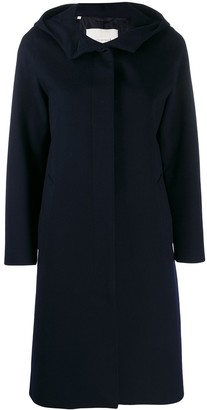 MACKINTOSH CHRYSTON Navy Storm System Wool Hooded Coat | LM-1019F