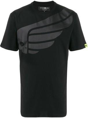 Hydrogen skull print crew neck T-shirt