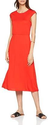 Vero Moda Women's 10197964 Dekolletiertes Crew Neck Short Sleeve Dress - Red