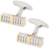 Bugatchi Two-Tone Segmented Bar Cuff Links