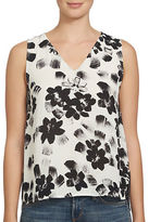 1 STATE Floral Printed Sleeveless Top