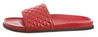 Buscemi Quilted Leather Slides w/ Tags