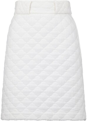 Fendi Quilted High-Waisted Skirt