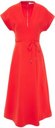 Rebecca Vallance Pleated Crepe Midi Dress