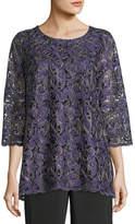 Caroline Rose Lux Embroidered Tunic, Plus Size