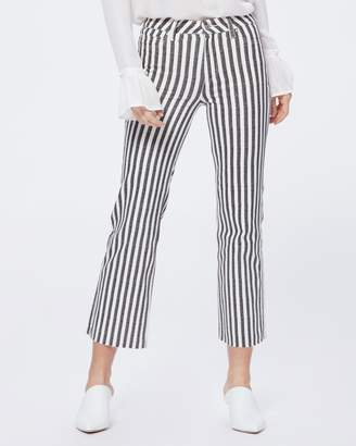 Paige ATLEY ANKLE FLARE RAW HEM-COVE STRIPE