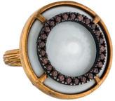 Bottega Veneta Porcelain Cocktail Ring.