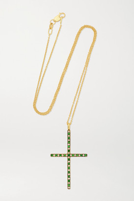 Ileana Makri 18-karat Gold, Tsavorite And Diamond Necklace - one size
