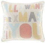 "Nobrand No Brand Ivory Secret Holiday Message Square Pillow (20""x20"")"