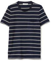 Lacoste Women's Fashion Show Striped Jersey Pocket T-Shirt