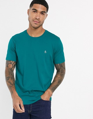 Original Penguin pin point embroidered logo t-shirt in green