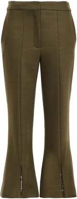 Adam Lippes Cropped Checked Woven Flared Pants