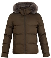 Fendi Reversible fur-trimmed quilted-down coat