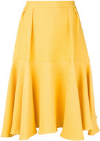 Yellow Pleated Skirt - ShopStyle
