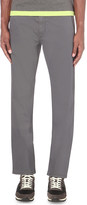 HUGO BOSS Slim-fit tapered cotton-blend trousers
